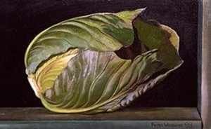 Cabbage still life by Peter Woodward