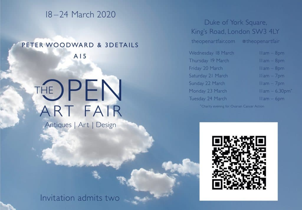 The Open Art Fair 2020 E-ticket - Peter Woodward & 3details