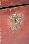 18th century morocco hide knife box 1