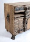 18thC Oak Flemish table cabinet7