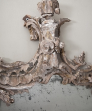 18thC rococo carved wood mirror-3