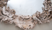 18thC rococo carved wood mirror-4
