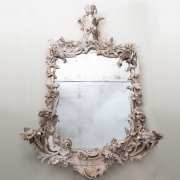 18thC rococo carved wood mirror