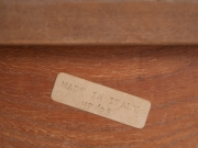 1970's Italian burr wood and chrome tray table-1