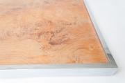 1970's Italian burr wood and chrome tray table-3