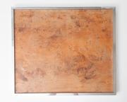 1970's Italian burr wood and chrome tray table-4