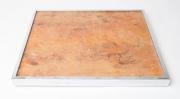 1970's Italian burr wood and chrome tray table-5
