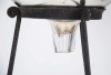 19thC Mercury glass Gazing globe on wrought iron stand - 2