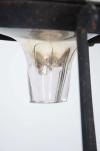 19thC Mercury glass Gazing globe on wrought iron stand - 4