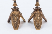Pair of Military Inspired Cast Bronze Candlesticks5