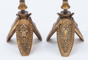 Pair of Military Inspired Cast Bronze Candlesticks6