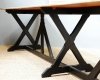 A large Pugin refectory table on ebonised supports - 4