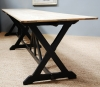 A large Pugin refectory table on ebonised supports - 5