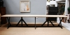 A large Pugin refectory table on ebonised supports - 6