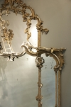 A Rare Rococo-revival gilt wood mirror after a design by Thomas Johnson - 01