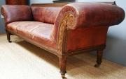 An oak framed Railway sofa - 1