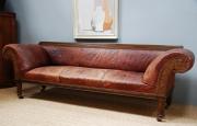 An oak framed Railway sofa - 2
