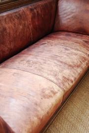 An oak framed Railway sofa - 4