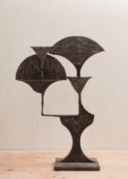 Cut steel lamp prototype from the workshops of Chrystiane Charles-1