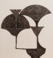 Cut steel lamp prototype from the workshops of Chrystiane Charles-2