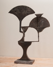 Cut steel lamp prototype from the workshops of Chrystiane Charles-4