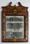 Eighteenth century leather covered pier mirror 2