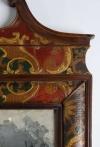 Eighteenth century leather covered pier mirror 5