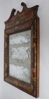Eighteenth century leather covered pier mirror 6