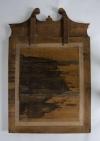 Eighteenth century leather covered pier mirror 7