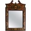 Eighteenth century leather covered pier mirror