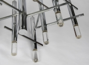 Gaetano Sciolari modernist nine light Chrome and Lucite Chandelier5