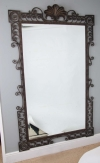 Large 1940's French wrought iron mirror - B
