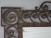 Large 1940's French wrought iron mirror - 2