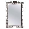Large 1940's French wrought iron mirror