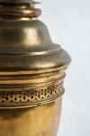 Large 19th century French gilt-brass lidded Potpourri urn - 1