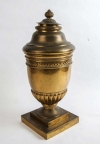 Large 19th century French gilt-brass lidded Potpourri urn - 7