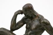Le-Penseur-patinated-bronze-figure-by-Pierre-Le-Faguays1