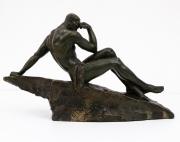 Le-Penseur-patinated-bronze-figure-by-Pierre-Le-Faguays3