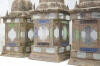 matched set of 3 large Moroccan hanging storm lanterns - 04