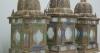 matched set of 3 large Moroccan hanging storm lanterns - 06
