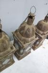 matched set of 3 large Moroccan hanging storm lanterns - 07