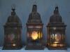 matched set of 3 large Moroccan hanging storm lanterns - 08