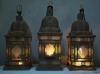 matched set of 3 large Moroccan hanging storm lanterns - 10
