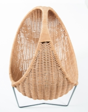metal & wicker baby basket -13