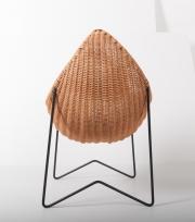 metal & wicker baby basket -2