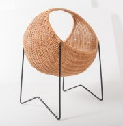 metal & wicker baby basket -3