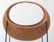 metal & wicker baby basket -4