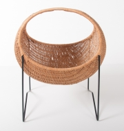 metal & wicker baby basket -5
