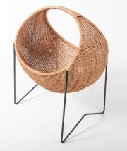 metal & wicker baby basket -6