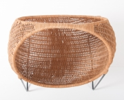 metal & wicker baby basket -8
